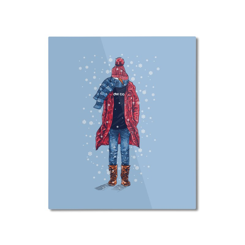 Snow Cool Home Mounted Aluminum Print by barmalisiRTB