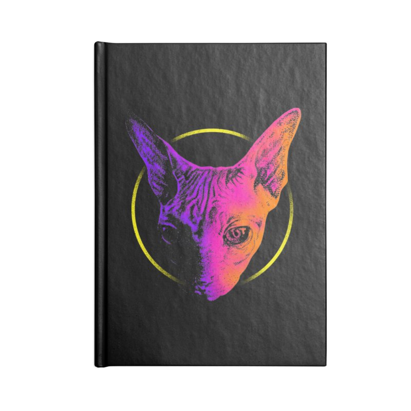 Sphynx Head Accessories Blank Journal Notebook by barmalisiRTB