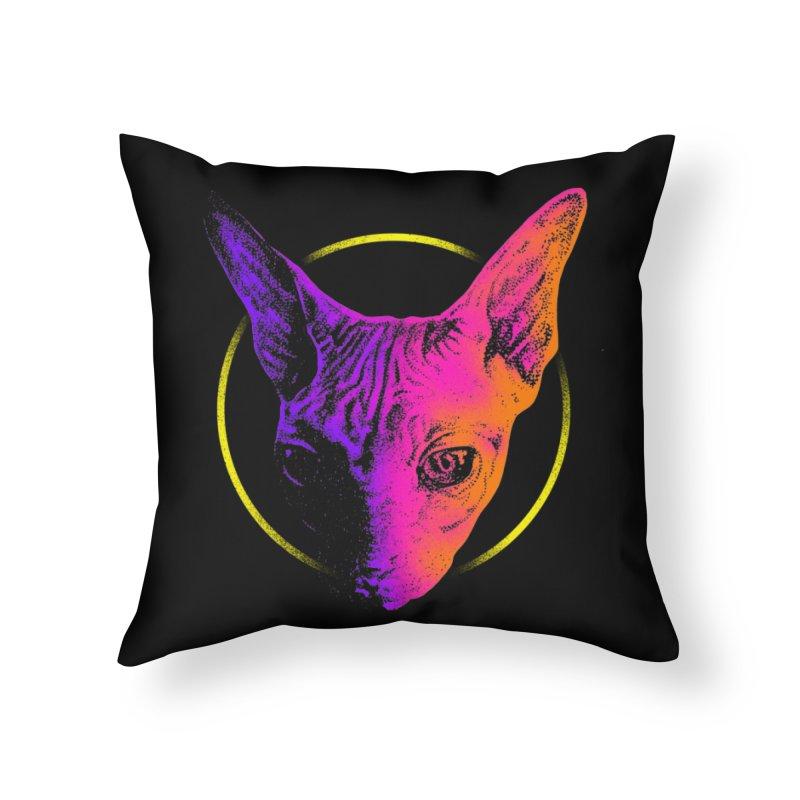 Sphynx Head Home Throw Pillow by barmalisiRTB