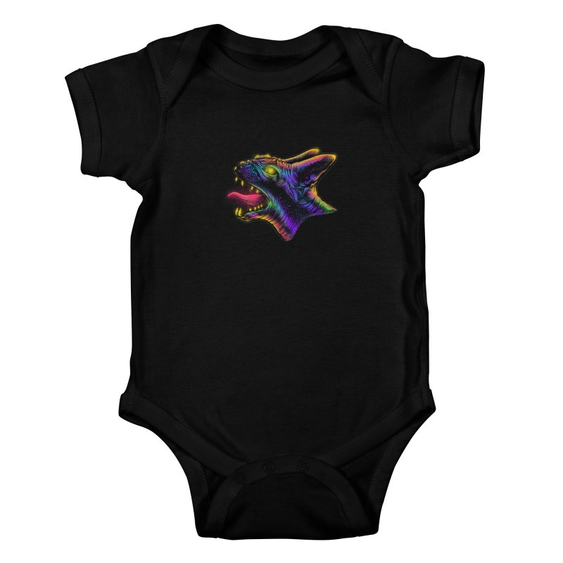 Sphynx head Angry Kids Baby Bodysuit by barmalisiRTB