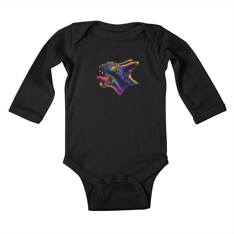 Sphynx head Angry Kids Baby Longsleeve Bodysuit by barmalisiRTB