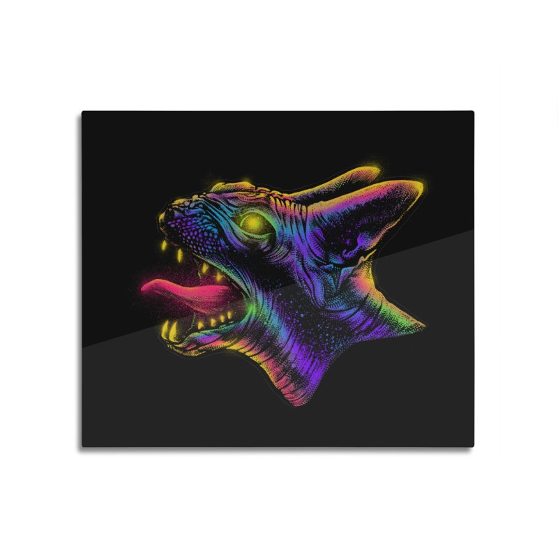 Sphynx head Angry Home Mounted Acrylic Print by barmalisiRTB