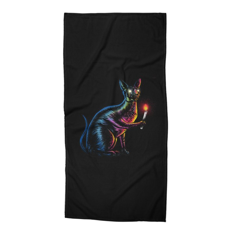 Mystery of Sphynx Accessories Beach Towel by barmalisiRTB