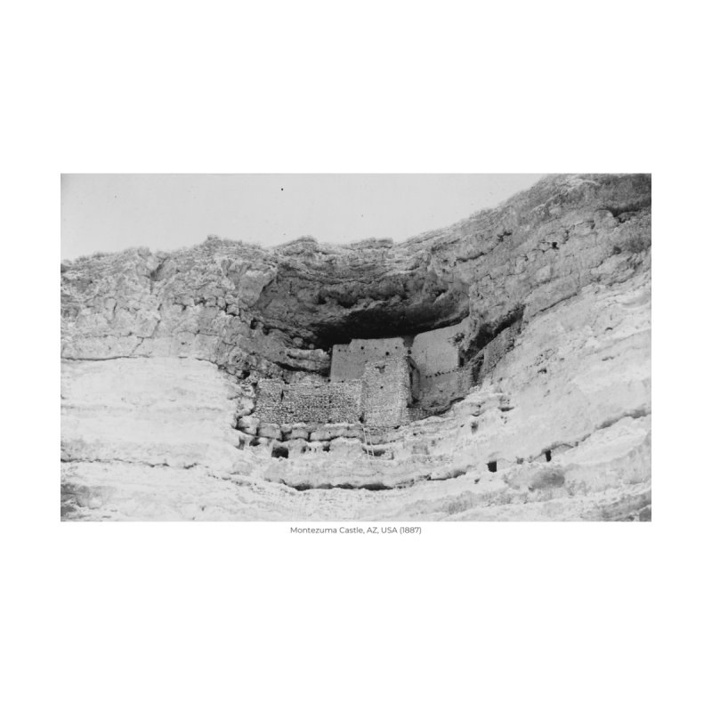 Montezuma Castle, AZ, USA (1887) Home Fine Art Print by nagybarnabas's Artist Shop
