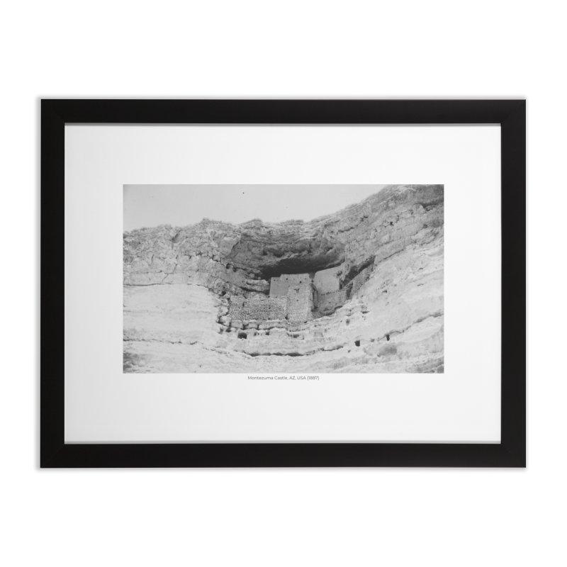 Montezuma Castle, AZ, USA (1887) Home Framed Fine Art Print by nagybarnabas's Artist Shop