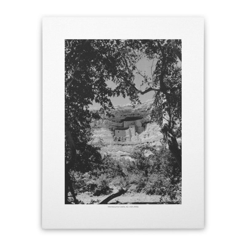 Montezuma Castle, AZ, USA (1935) Home Stretched Canvas by nagybarnabas's Artist Shop