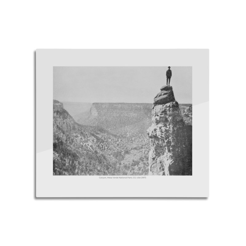 Canyon, Mesa Verde National Park, CO, USA (1917) Home Mounted Aluminum Print by nagybarnabas's Artist Shop