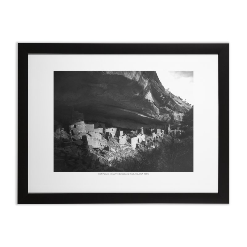 Cliff Palace, Mesa Verde National Park, CO, USA (1891) Home Framed Fine Art Print by nagybarnabas's Artist Shop