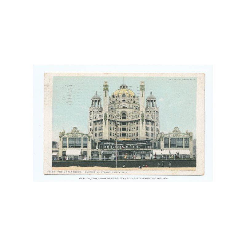 Marlborough-Blenheim Hotel, Atlantic City, NJ, USA, (1908) by nagybarnabas's Artist Shop