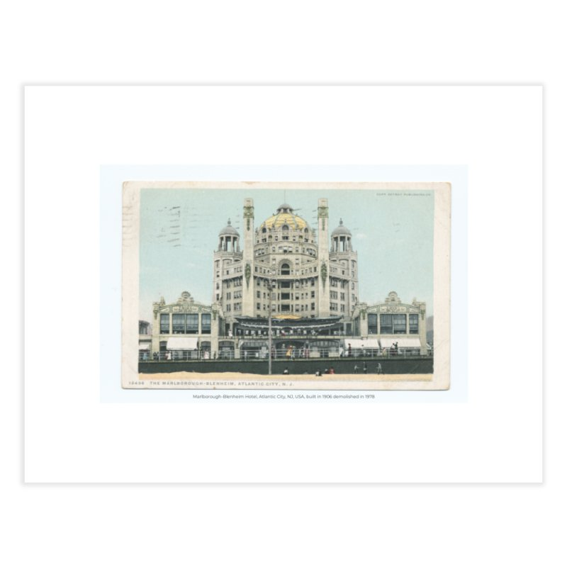 Marlborough-Blenheim Hotel, Atlantic City, NJ, USA, (1908) Home Fine Art Print by nagybarnabas's Artist Shop
