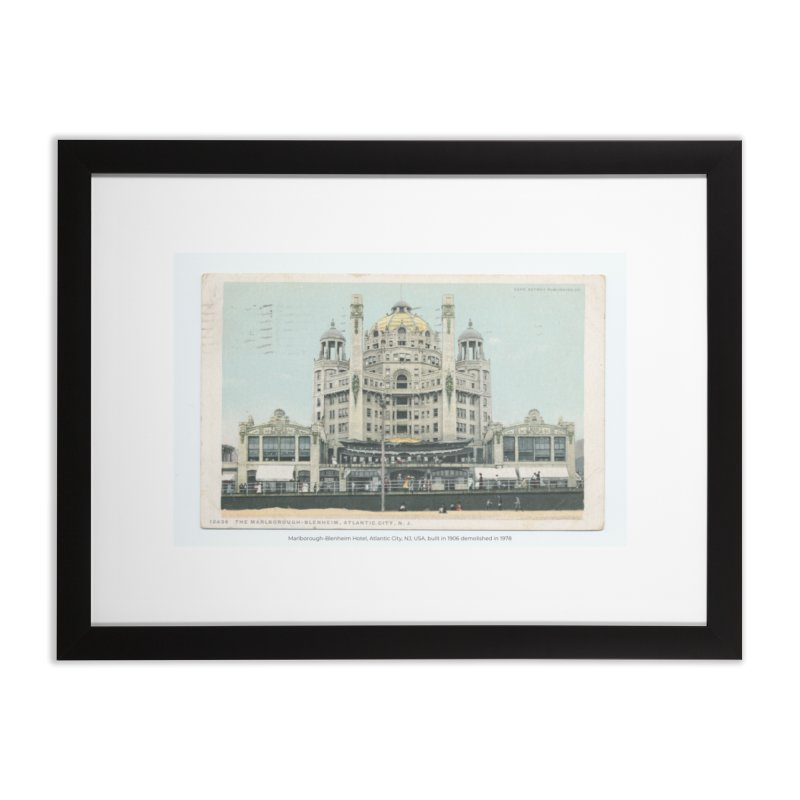 Marlborough-Blenheim Hotel, Atlantic City, NJ, USA, (1908) Home Framed Fine Art Print by nagybarnabas's Artist Shop