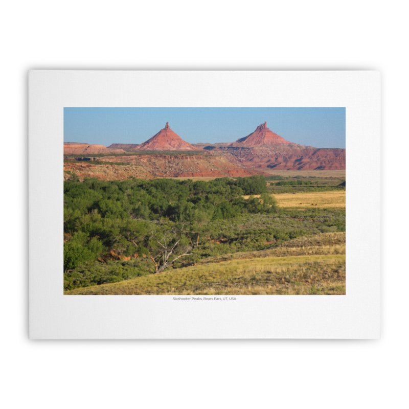 Sixshooter Peaks, Bears Ears, UT, USA Home Stretched Canvas by nagybarnabas's Artist Shop