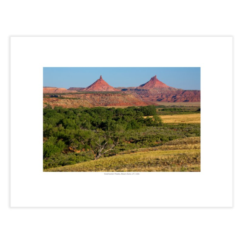 Sixshooter Peaks, Bears Ears, UT, USA Home Fine Art Print by nagybarnabas's Artist Shop