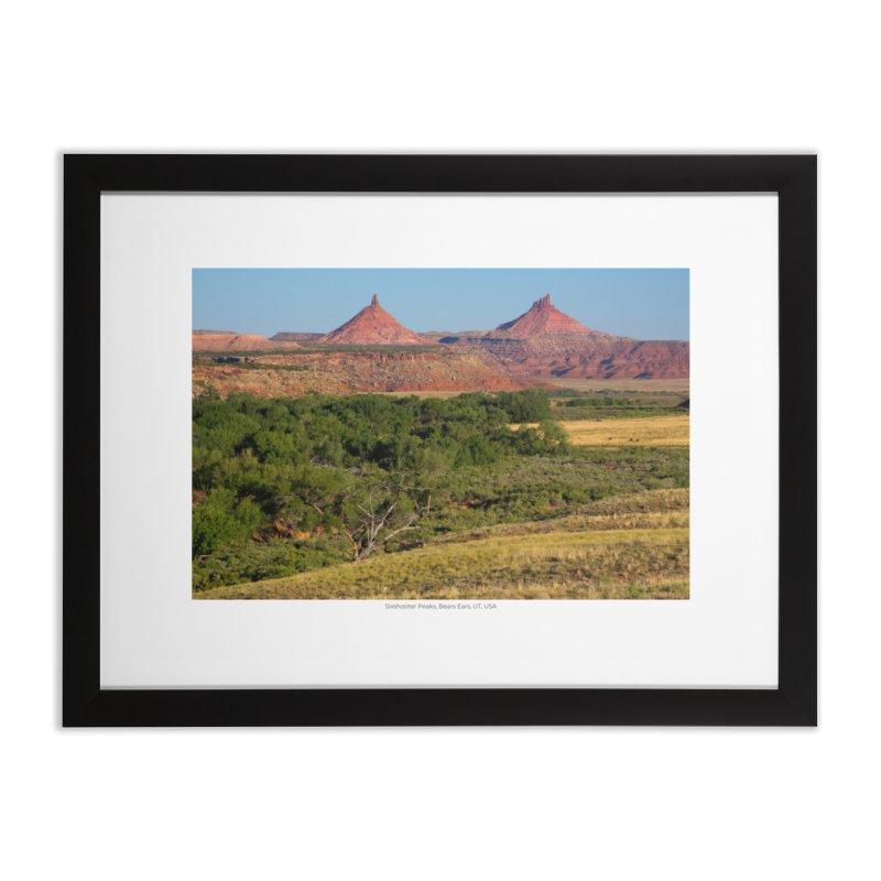 Sixshooter Peaks, Bears Ears, UT, USA Home Framed Fine Art Print by nagybarnabas's Artist Shop