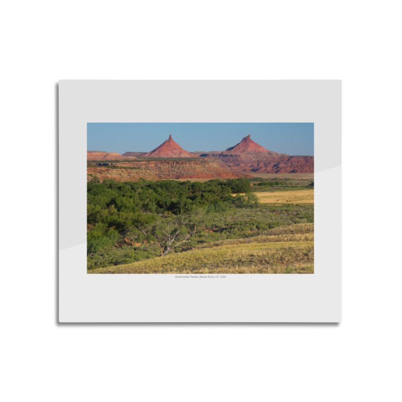Sixshooter Peaks, Bears Ears, UT, USA Home Mounted Aluminum Print by nagybarnabas's Artist Shop
