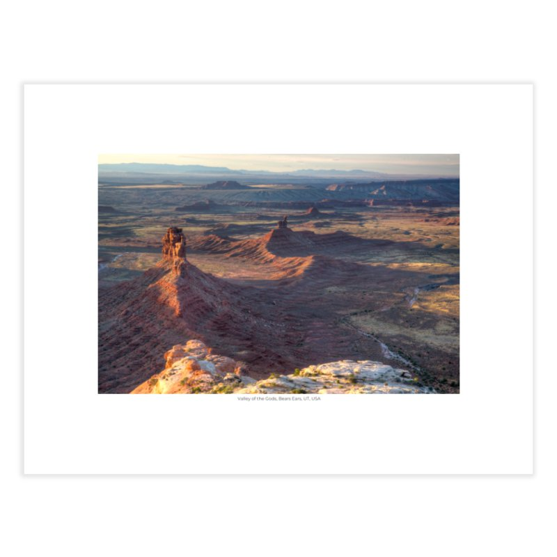 Valley of the Gods, Bears Ears, UT, USA Home Fine Art Print by nagybarnabas's Artist Shop