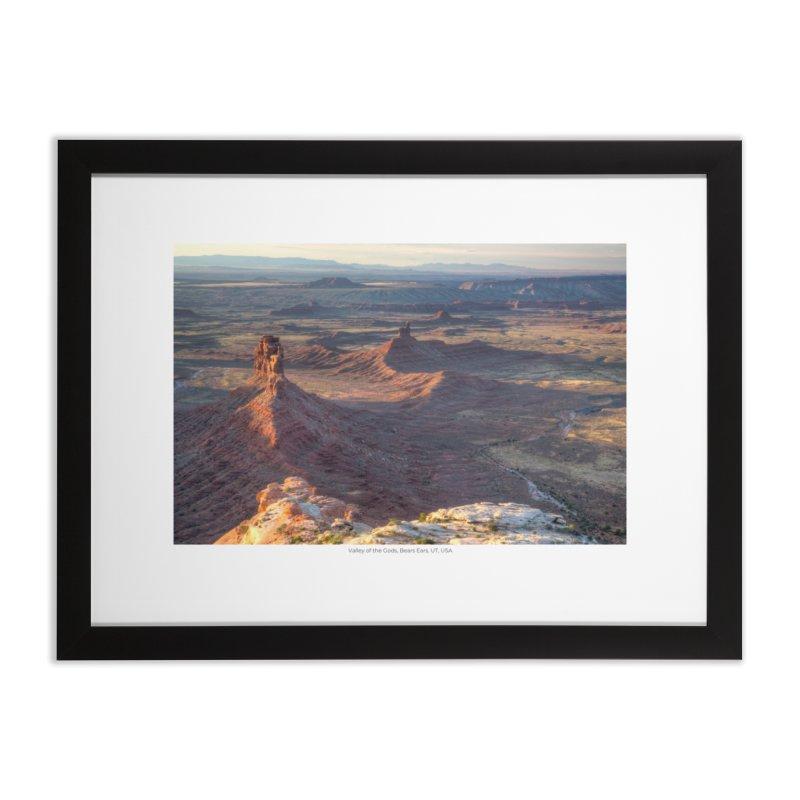 Valley of the Gods, Bears Ears, UT, USA Home Framed Fine Art Print by nagybarnabas's Artist Shop