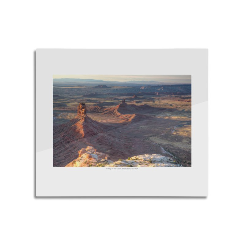Valley of the Gods, Bears Ears, UT, USA Home Mounted Aluminum Print by nagybarnabas's Artist Shop
