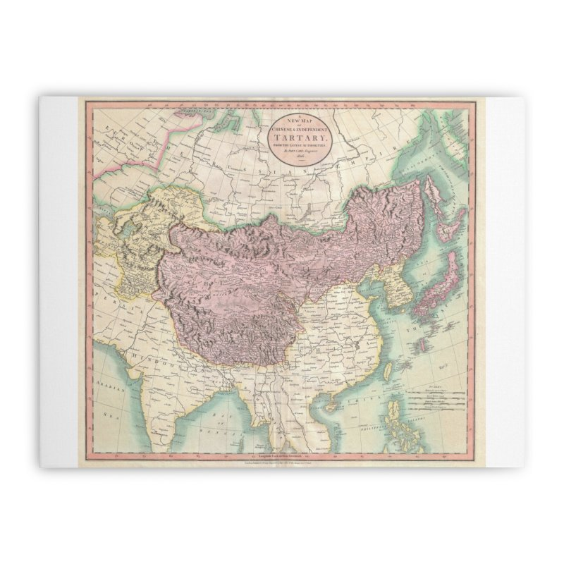 Map of Chinese and Independent Tartary by John Cary (1806) Home Stretched Canvas by nagybarnabas's Artist Shop