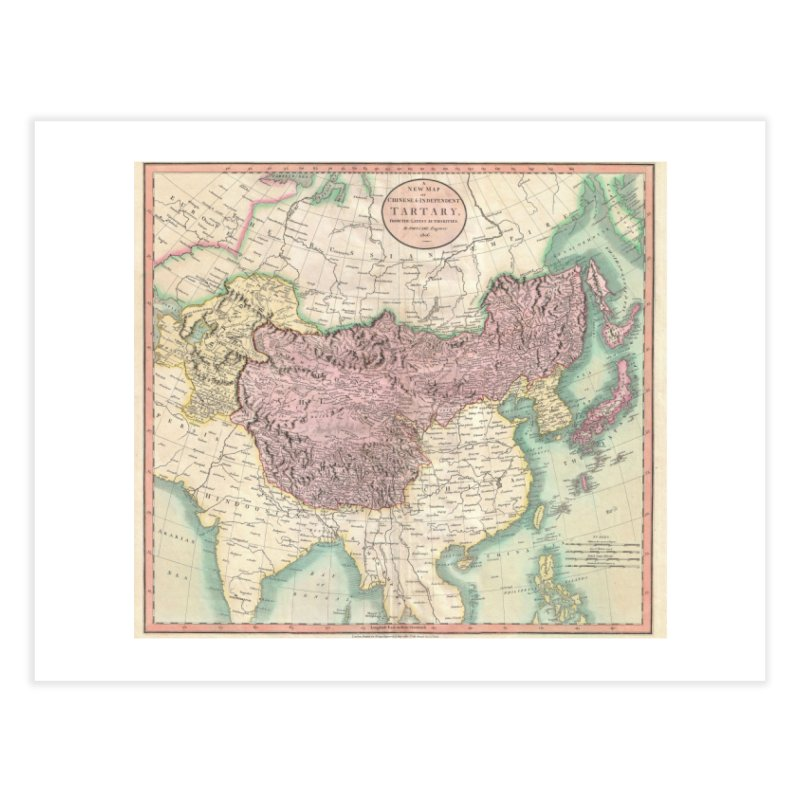 Map of Chinese and Independent Tartary by John Cary (1806) Home Fine Art Print by nagybarnabas's Artist Shop