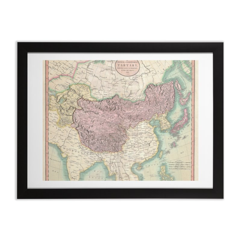 Map of Chinese and Independent Tartary by John Cary (1806) Home Framed Fine Art Print by nagybarnabas's Artist Shop