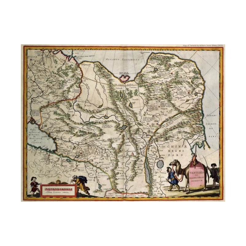 Map of Tartaria by Willem Jansz. Blaeu (J630) by nagybarnabas's Artist Shop