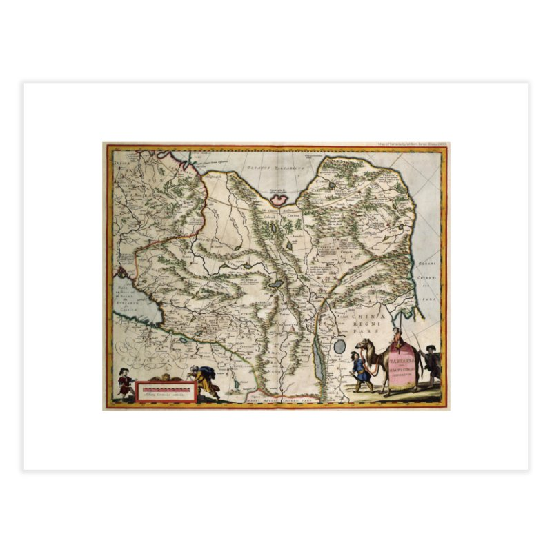 Map of Tartaria by Willem Jansz. Blaeu (J630) Home Fine Art Print by nagybarnabas's Artist Shop
