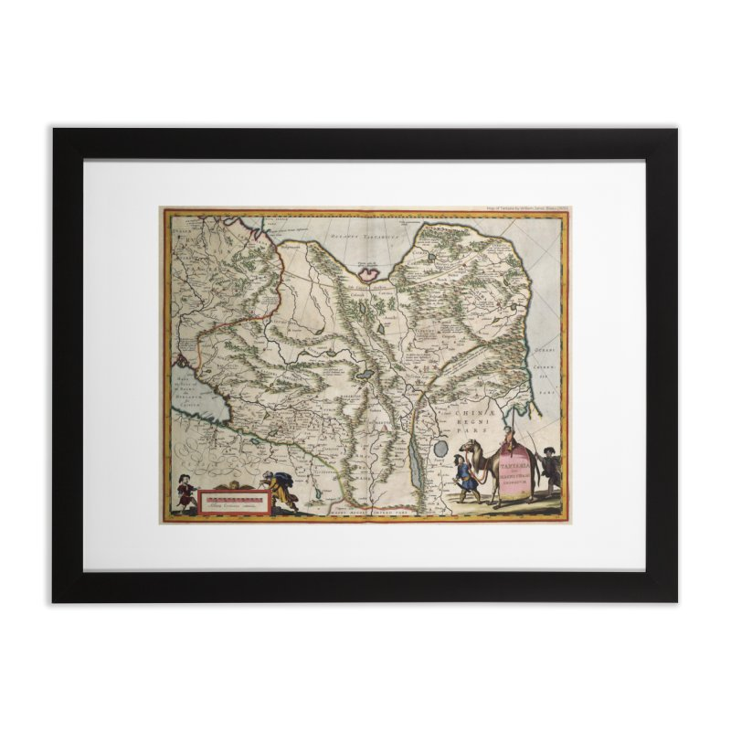 Map of Tartaria by Willem Jansz. Blaeu (J630) Home Framed Fine Art Print by nagybarnabas's Artist Shop
