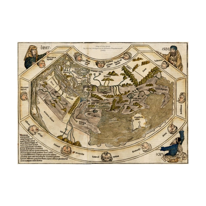Map of the Word by Michel Wolgemut & Wilhelm Pleydenwurff (J493) by nagybarnabas's Artist Shop