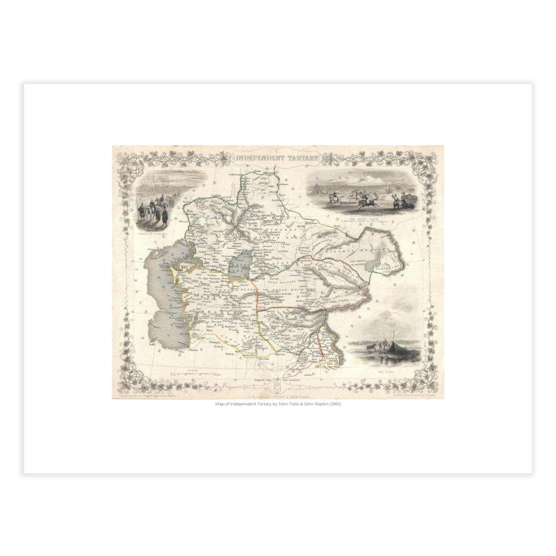 Map of Independent Tartary by John Tallis & John Rapkin (J851) Home Fine Art Print by nagybarnabas's Artist Shop