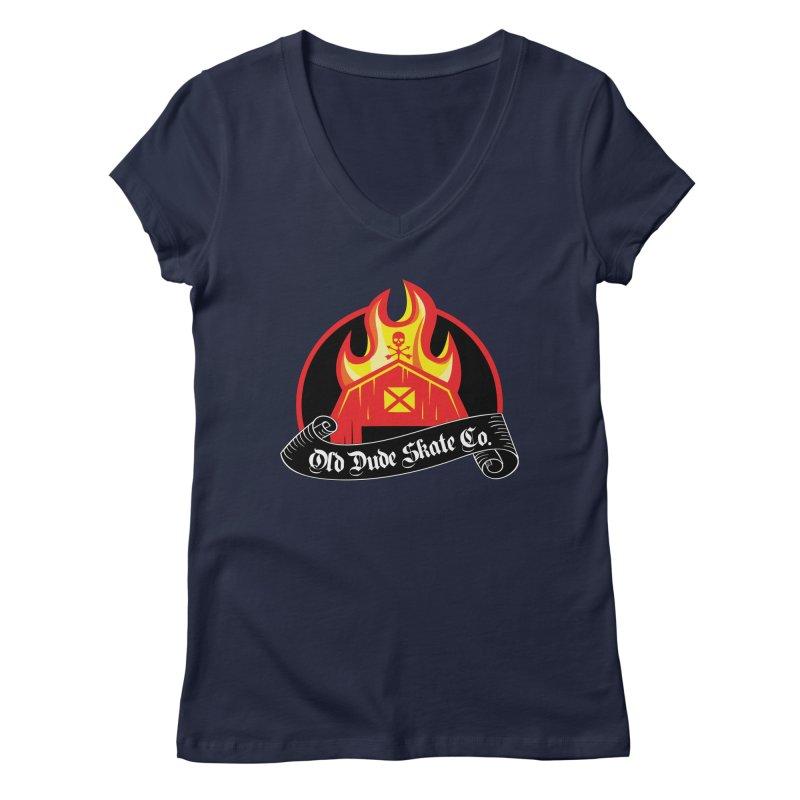 ODS Barn Burner Women's Regular V-Neck by Drew's Barn Burner Shop