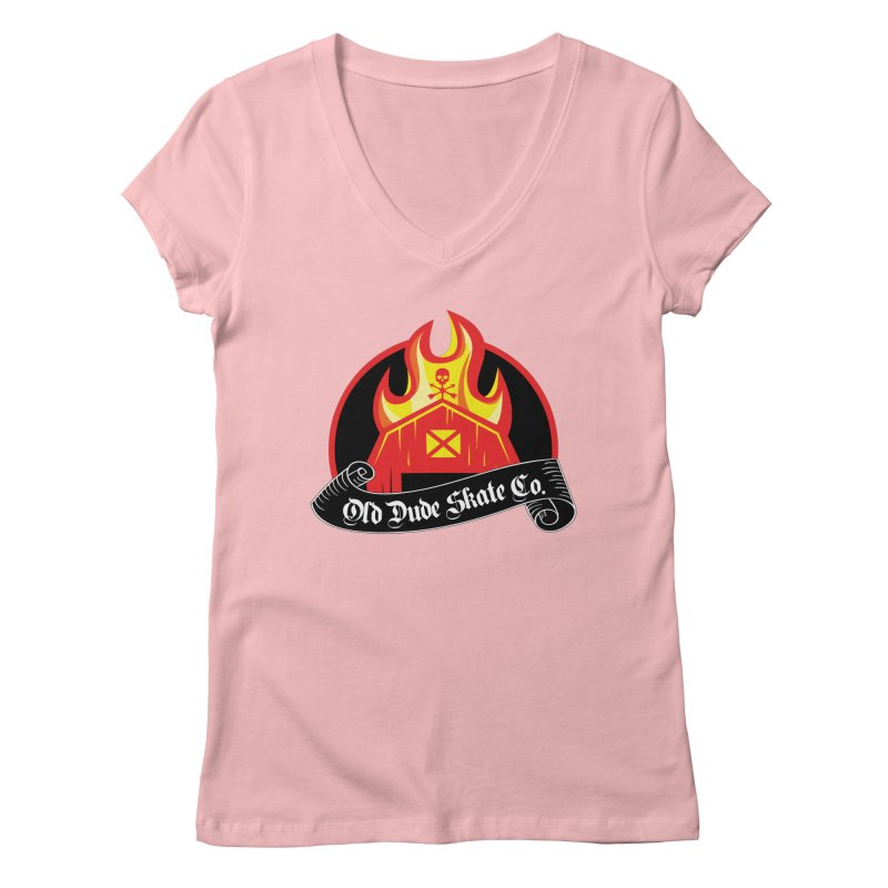 ODS Barn Burner Women's Regular V-Neck by Drew's Barn Burner Shop