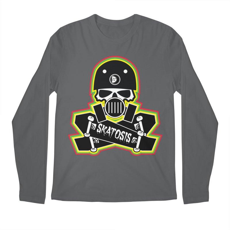 SKATOSIS Men's Regular Longsleeve T-Shirt by Drew's Barn Burner Shop