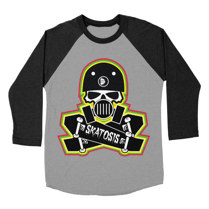 SKATOSIS Women's Baseball Triblend T-Shirt by Drew's Barn Burner Shop