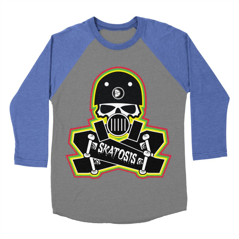 SKATOSIS Men's Baseball Triblend T-Shirt by Drew's Barn Burner Shop