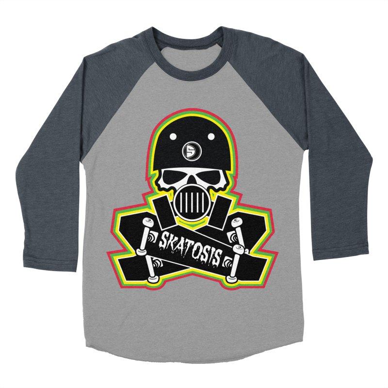 SKATOSIS Men's Baseball Triblend Longsleeve T-Shirt by Drew's Barn Burner Shop