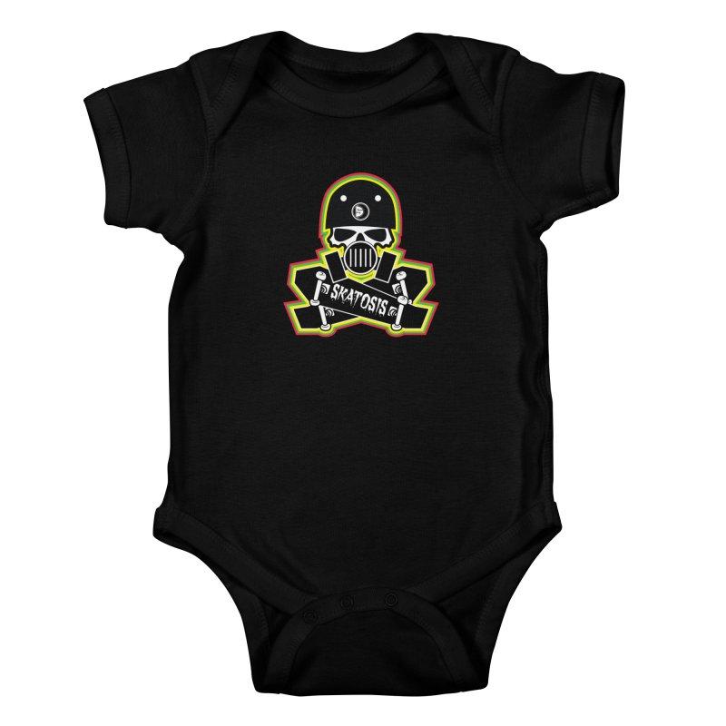 SKATOSIS Kids Baby Bodysuit by Drew's Barn Burner Shop