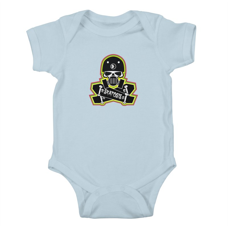 SKATOSIS Kids Baby Bodysuit by Drew's Barn Burner Shop