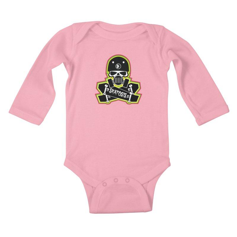 SKATOSIS Kids Baby Longsleeve Bodysuit by Drew's Barn Burner Shop