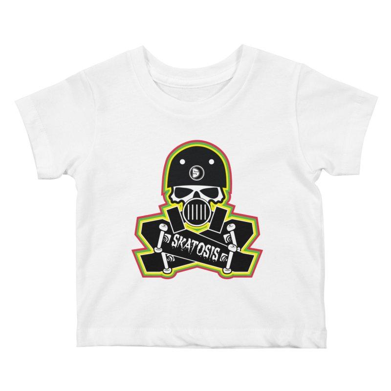 SKATOSIS Kids Baby T-Shirt by Drew's Barn Burner Shop