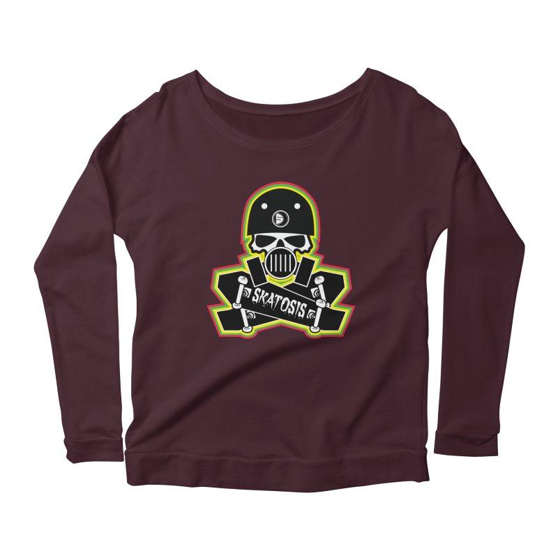 SKATOSIS Women's Scoop Neck Longsleeve T-Shirt by Drew's Barn Burner Shop