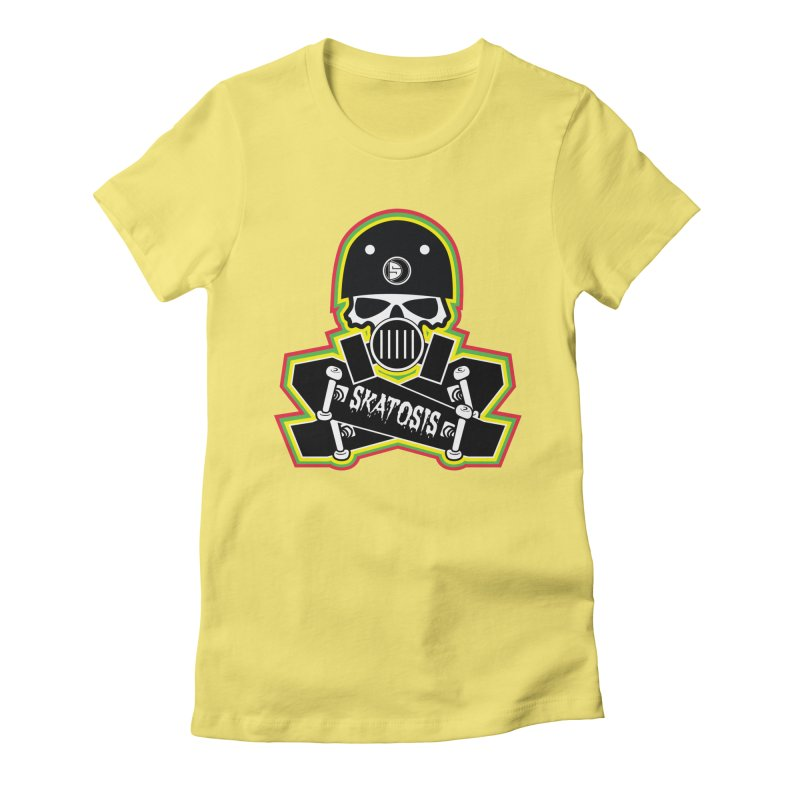 SKATOSIS Women's Fitted T-Shirt by Drew's Barn Burner Shop