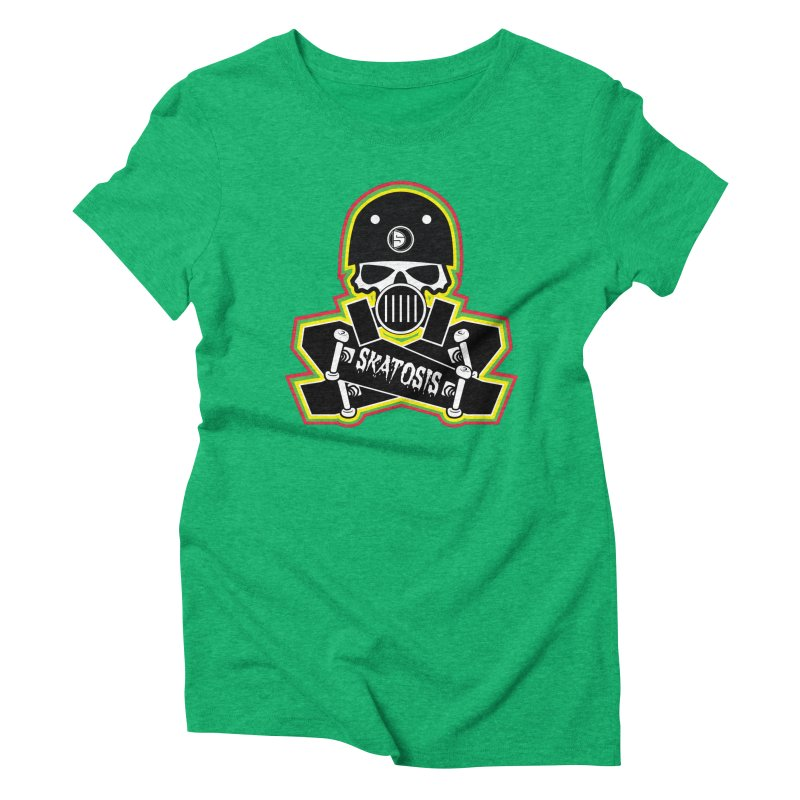 SKATOSIS Women's Triblend T-Shirt by Drew's Barn Burner Shop