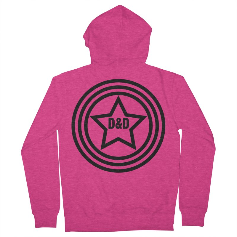 D&D - Dawn & Drew Star logo Women's French Terry Zip-Up Hoody by Drew's Barn Burner Shop
