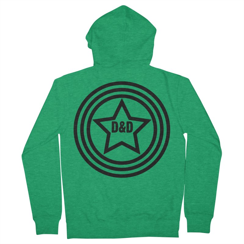 D&D - Dawn & Drew Star logo Men's Zip-Up Hoody by Drew's Barn Burner Shop