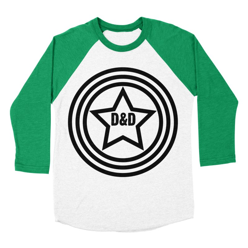 D&D - Dawn & Drew Star logo Men's Baseball Triblend T-Shirt by Drew's Barn Burner Shop