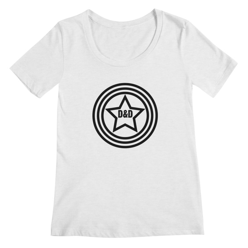 D&D - Dawn & Drew Star logo Women's Scoopneck by Drew's Barn Burner Shop