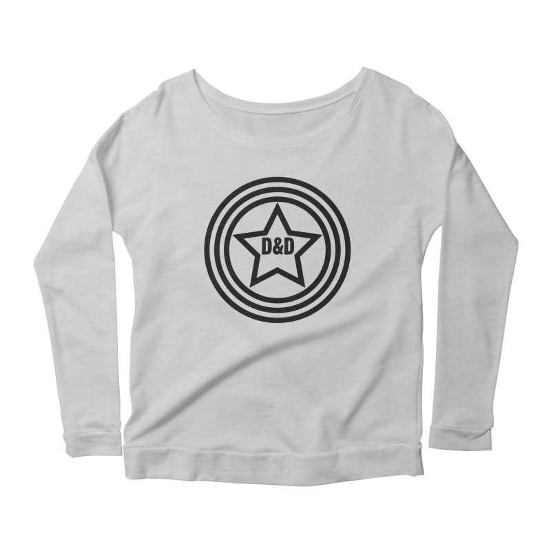 D&D - Dawn & Drew Star logo Women's Longsleeve Scoopneck  by Drew's Barn Burner Shop