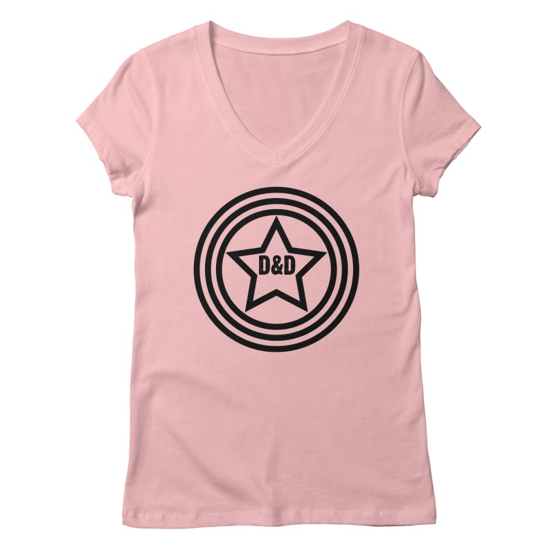 D&D - Dawn & Drew Star logo Women's Regular V-Neck by Drew's Barn Burner Shop