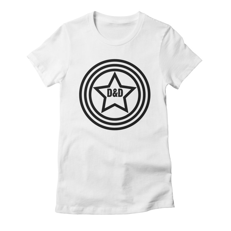D&D - Dawn & Drew Star logo Women's Fitted T-Shirt by Drew's Barn Burner Shop